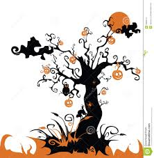 Halloween Ornament Tree by Halloween Tree With Jack O Lantern Royalty Free Stock Photography