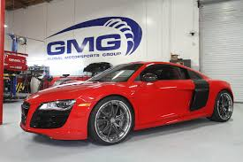Audi R8 Red - 2011 red audi r8 v10 with gmg exhaust and roll bar