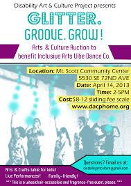 glitter groove grow a fundraiser for iavdc u2013 disability art