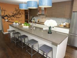Ceramic Tile Countertops Kitchen Island Breakfast Bar Lighting