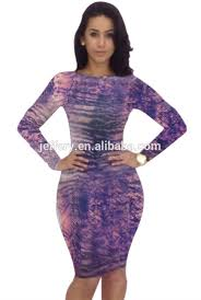 snap skin bodycon long sleeve club purple dress hollow out