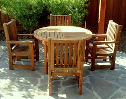Round Redwood Picnic Table by Round Wooden Card Table Custom Redwood Tables For Sale