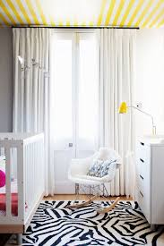 Yellow Curtains Nursery Sydney Grey Yellow Curtains Nursery Contemporary With Bunny Mobile