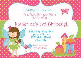 fairy birthday invitations fairy birthday invitations and the