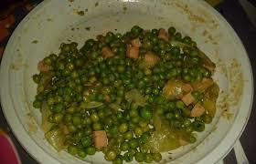 cuisiner des petit pois surgel poêlé de petits pois recette dukan conso par dodey33 recettes et