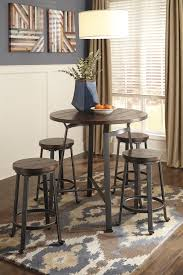 Dining Room Groups Signature Design By Ashley Challiman Industrial Style Round Dining