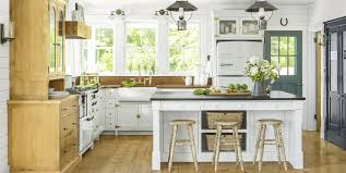 gray walls with stained kitchen cabinets the 16 best white kitchen cabinet paint colors for a clean airy vibe