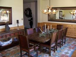 Western Dining Room Moose Landing Gorgeous Home On The Beauti Vrbo