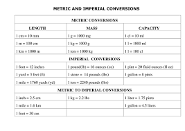 imperial to metric conversion worksheets metric and imperial conversions by maths teaching