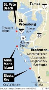 Florida Gulf Beaches Map by Getaways Anna Maria Island Ultimate Beach Town