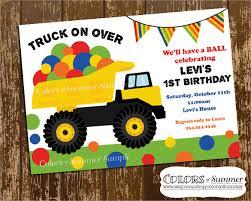 birthday invitation template trucks and cars free