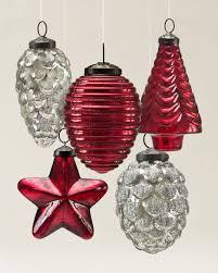 ornaments mercury glass ornaments etched