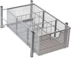 Kitchen Cabinets Baskets by Amazon Com Decobros Mesh Cabinet Basket Organizer Silver Home
