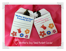 Mother S Day Greeting Card Ideas by Mother U0027s Day Crafts Mother U0027s Day Seed Packet Cards Pink