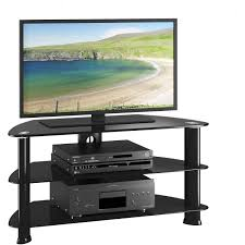 50 inch tv stand with mount corliving laguna satin black corner tv stand for tvs up to 50