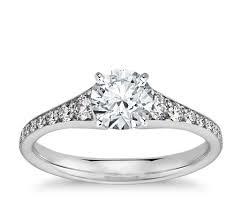 white and black diamond engagement rings graduated diamond engagement ring in 14k white gold 1 3 ct tw