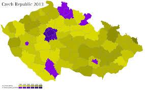 Map Of Czech Republic Czech Republic 2013 World Elections
