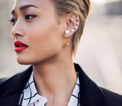 earrings girl how to pull the earrings trend the gloss magazine