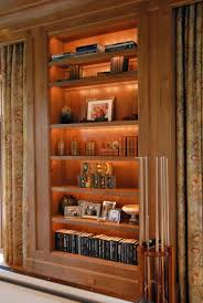 Lights For Bookcases Excellant Use Of Led Low Voltage Strip Lighting Inside This Custom