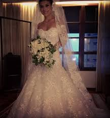 gorgeous lace long sleeve mermaid wedding dress long train with