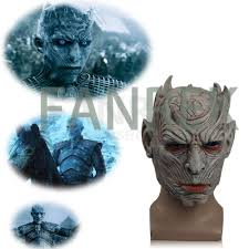 game of thrones night u0027s king white walker mask cosplay latex