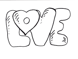 coloring pages of the word love about webonize pinterest