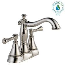delta cassidy 4 in centerset 2 handle bathroom faucet with metal