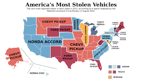 Crime Map United States by The United States Of Vehicle Theft