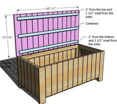 Garden Storage Bench Easy Way To Store Outside Stuff Pressure Treated Lumber