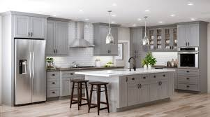 home depot kitchen cabinets tremont base cabinets in pearl gray kitchen the home depot