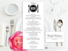 wedding menu template printable wedding menu free place card template instant