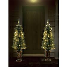 4 ft indoor outdoor pre lit artificial porch tree with
