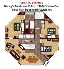 disney vacation club floor plans the living dining kitchen space at the treehouse villas at disney s