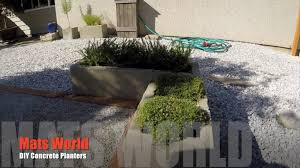 diy concrete planters youtube