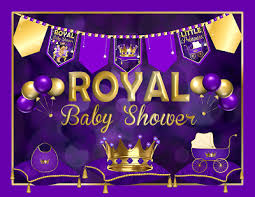 purple baby shower decorations royal princess ba shower decorations purple ethnic royal