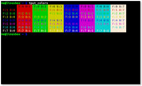 linuxcommand org tput