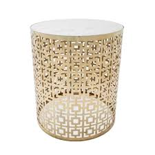Brass Side Table Cocktail Round Marble Side Table With Brass Interior Secrets