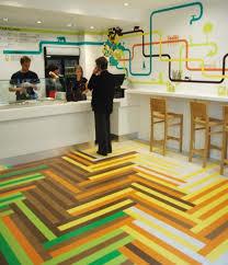 Poncho No  Fast Food Restaurant In London Amazing Floor - Fast food interior design ideas