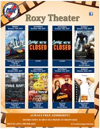 roxy theater october 13 u2013 22 uscg base cape cod mwr
