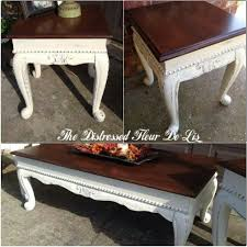 general finishes antique white milk paint and dark chocolate brown