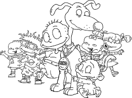 coloring pages endearing rugrats coloring pages pickles rugrats