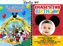 mickey mouse birthday party invitations mickey mouse birthday