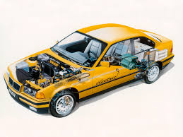 1995 bmw 3 series coupe electro antrieb e36 illustration by