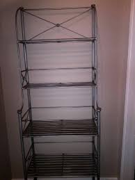Iron Bakers Rack Pier One Wrought Iron Bakers Rack Shelves 35 Obo Mike Munley