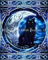 midnight moon celtic black cat ashwood10173