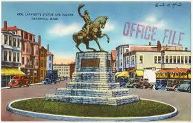 general lafayette statue and square haverhill mass digital