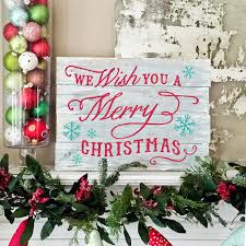 merry christmas sign christmas in july plank wood sign or lazy susan workshop ar