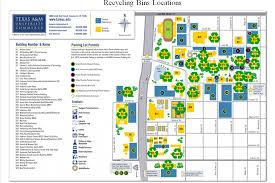 Tamu Parking Map Recycle Bins Texas A U0026m University Commerce