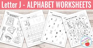 letter j worksheets alphabet series easy peasy learners