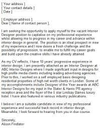 Interior Assistant Interior Design Assistant Cover Letter